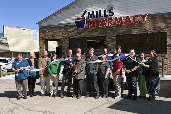 Welcome Mills Pharmacy to Leeds | The City of Leeds and the Leeds Area Chamber of Commerce held a ribbon cutting at Mills Pharmacy last week to celebrate their grand opening and open house. Mills Pharmacy is located in the old McKinnon Pharmacy building. If you haven't visited their newly renovated store, we encourage