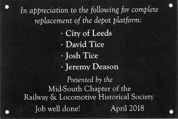 David Tice, James Lowery and Jeremy Deason with Mid-South Chapter of Railway & Locomotive Historical Society Presentation |
