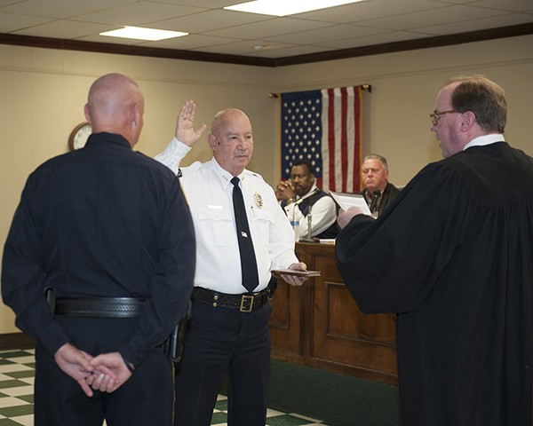 Leeds Swears in New Police Chief Jim Atkinson | The City of Leeds conducted a Swearing-In Ceremony for Police Chief Jim Atkinson at the City Council meeting