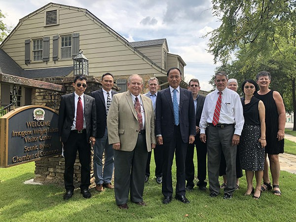 Leeds was one of the first stops in Alabama for a group from the China Council for the Promotion of International Trade based in Arlington, VA. This was the