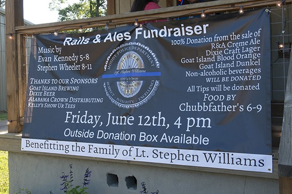 City of Leeds and Leeds Water Works presented donations at Rails and Ales Fundraiser for the family of fallen Moody Police Officer Lt. Stephen Williams