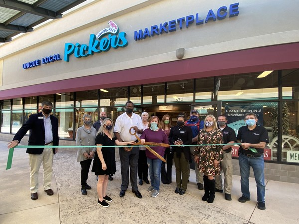 City of Leeds & Leeds Area Chamber of Commerce hosted a ribbon cutting at University Pickers located at Shops of Grand River Leeds Alabama