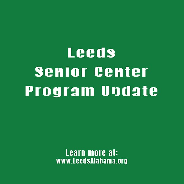 City of Leeds Senior Center Update Alabama