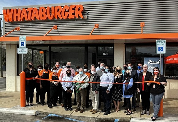 Whataburger Ribbon Cutting Photos | The Leeds Area Chamber of Commerce and the City of Leeds officially welcomed the new Whataburger with the
