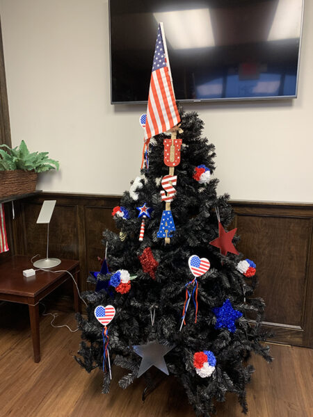 Come by Leeds City Hall during normal business hours to see the Independence Day Tree which will be on display during July. #treeofthemonth