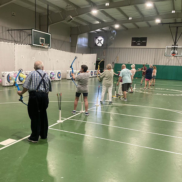 The Seniors ended July with a bang – popping balloons with bow and arrow. Thank you to Mr. Caffee and Mrs. McDill for the archery instruction!
