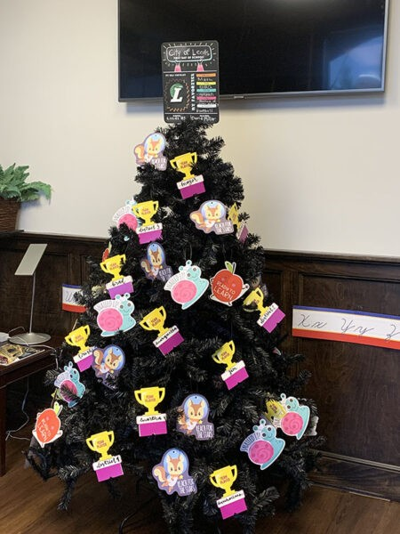 Come by Leeds City Hall during normal business hours to see the Back to School Tree which will be on display during August. #treeofthemonth